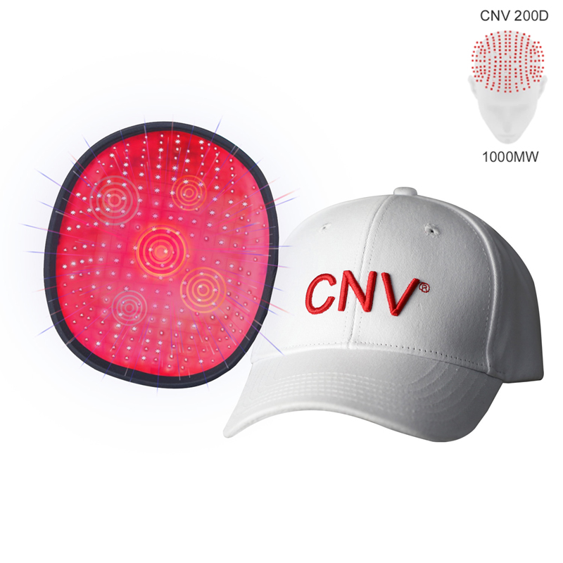 White CNV 200 Laser Lamps Medical-Grade Hair In Growth Cap